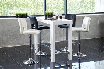 AC Design Furniture Bartisch Laura, B: 120 x T:60 x H: 105 cm, MDF, Weiss - 4
