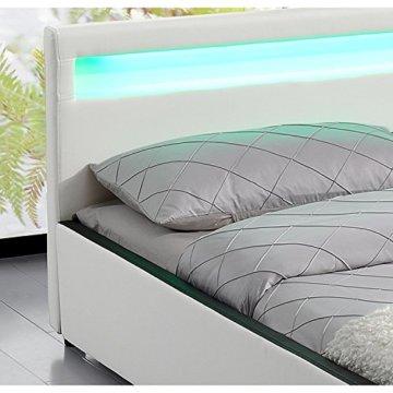 ArtLife Polsterbett Sevilla - 140 x 200 cm - weiß - 3