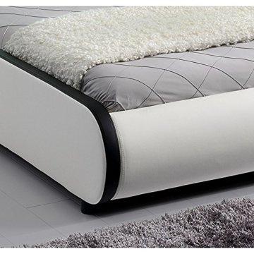 ArtLife Polsterbett Sevilla - 140 x 200 cm - weiß - 4