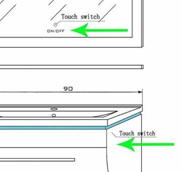 Badmöbel Set Badezimmermöbel Komplett Set Waschbeckenschrank mit Waschtisch Spiegel 2 hochschränke mit LED Hochglanz Fronten Schwarz 70 cm Vormontiert Homeline1 - 3