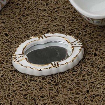 Baoblaze 4pcs Miniatur Weiße Badewanne, Toilette, Spüle, Spiegel Badezimmer Möbel Set für 1/12 Puppenhaus Bad Dekoration - # 2 - 7