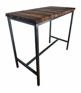 CHYRKA® Bartisch Stehtisch Barhocker Barstuhl BarMöbel SAMBOR Loft Vintage Bar Industrie Design Handmade Holz Metall (Tisch 120) - 1