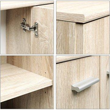 CSSchmal Sideboard mit 2 Türen 2 Schubladen Eiche Highboard Kommode Standschrank Mehrzweckschrank Anrichte Typ 90 - 3