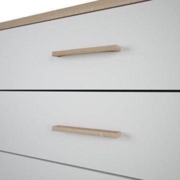 demeyere Selena Kommode, Spanplatte, Sonoma Eiche/weiß, 100 x 41.6 x 84.7 cm - 3