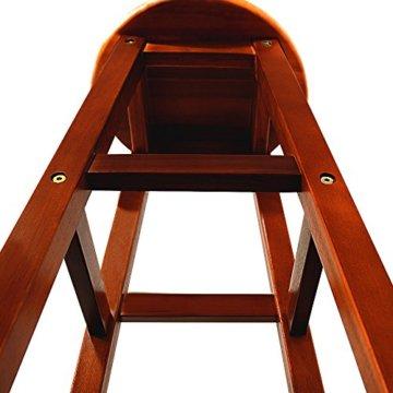 Deuba 2er Set Barhocker | massives Holzgestell | Akazienhartholz | praktische Fußablage | optimale Sitzhöhe 76cm, braun - Tresenhocker Barstuhl Küchenhocker Tresenstuhl Hocker Holz - 2