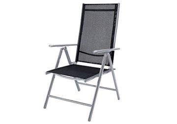 Deuba Aluminium Sitzgruppe 6+1 Silber | Verstellbare Stühle | Sicherheitsglas | Wetterfest [ Auswahl 4+1/6+1/8+1 ] - Alu Sitzgarnitur Garten Essgruppe Gartengarnitur Gartenmöbel Set - 3