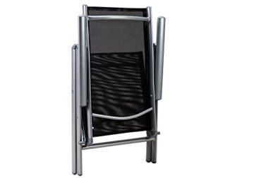 Deuba Aluminium Sitzgruppe 6+1 Silber | Verstellbare Stühle | Sicherheitsglas | Wetterfest [ Auswahl 4+1/6+1/8+1 ] - Alu Sitzgarnitur Garten Essgruppe Gartengarnitur Gartenmöbel Set - 4