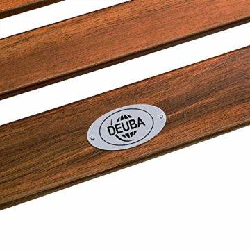 Deuba Schwungliege   FSC®-zertifiziertes Akazienholz   Ergonomisch   Vormontierte Latten   Wippfunktion   Gartenliege Sonnenliege Relaxliege Saunaliege - 4