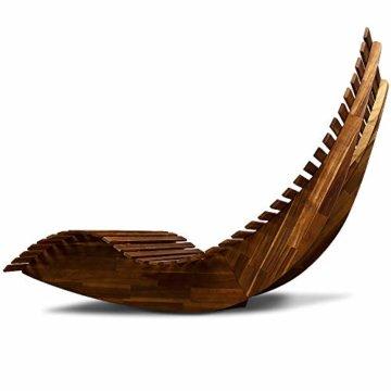 Deuba Schwungliege   FSC®-zertifiziertes Akazienholz   Ergonomisch   Vormontierte Latten   Wippfunktion   Gartenliege Sonnenliege Relaxliege Saunaliege - 5