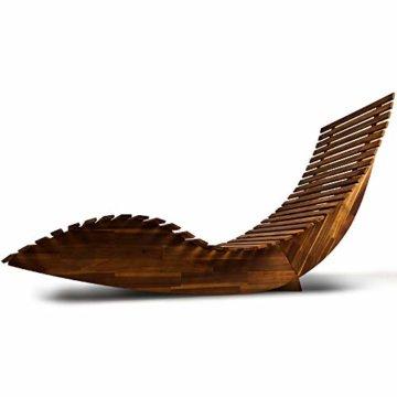 Deuba Schwungliege   FSC®-zertifiziertes Akazienholz   Ergonomisch   Vormontierte Latten   Wippfunktion   Gartenliege Sonnenliege Relaxliege Saunaliege - 7
