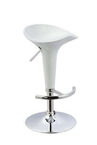 Duhome Elegant Lifestyle® 2er Set Barhocker Kunststoff Weiß Barstuhl Versch. Farben Höhenverstellbar Tresenhocker Drehbar Design Hocker - 3