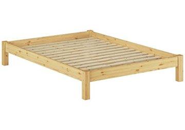Erst-Holz 60.35-14 Futonbett mit Rollrost - 140x200 - Massivholz Natur - 1
