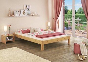 Erst-Holz 60.35-14 Futonbett mit Rollrost - 140x200 - Massivholz Natur - 2