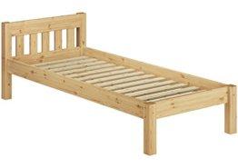 Erst-Holz 60.38-09 Einzelbett mit Rollrost - 90x200 - Massivholz Natur - 1