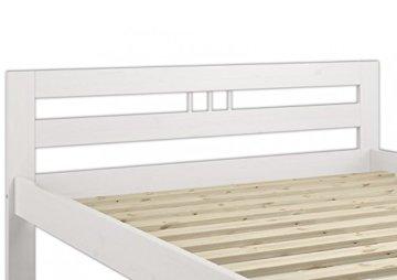 Erst-Holz® Massivholzbett weiß Kiefer Jugendbett 120x200 Einzelbett Futonbett mit Rollrost 60.64-12 W - 4