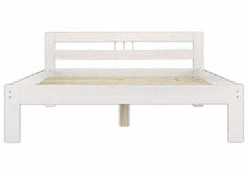 Erst-Holz® Massivholzbett weiß Kiefer Jugendbett 120x200 Einzelbett Futonbett mit Rollrost 60.64-12 W - 1