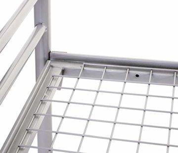 Etagenbett HWC-D93, Hochbett Gästebett Bett Metallbett Stockbett mit Leiter, 90x200cm - 6