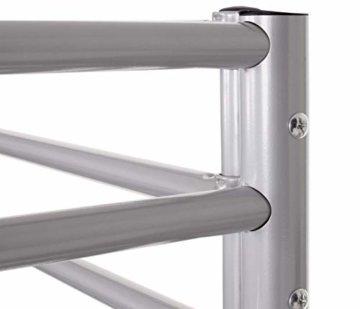 Etagenbett HWC-D93, Hochbett Gästebett Bett Metallbett Stockbett mit Leiter, 90x200cm - 7