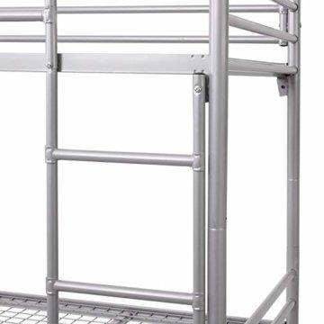 Etagenbett HWC-D93, Hochbett Gästebett Bett Metallbett Stockbett mit Leiter, 90x200cm - 8