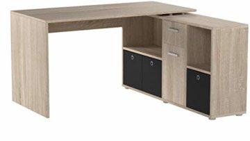 FMD Möbel 353-001 Schreibtisch-Winkelkombination Tisch ca. 136 x 75 x 68 cm, Regal ca. 137 x 71 x 33 cm - 5