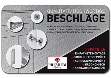 FMD Möbel L913-001 Olbia 2.0 Waschmaschinen,Trockner, WC-Überbau, Hauswirtschaftsschrank, Schrank mit Zwei Türen, Holz, Weiß, 64 x 26 x 190 cm - 6