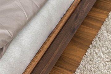 Futonbett / Massivholzbett Kiefer Massivholz Farbe nuss A8, inkl. Lattenrost - Abmessung 140 x 200 cm - 5