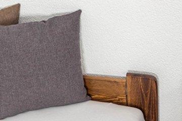 Futonbett / Massivholzbett Kiefer Massivholz Farbe nuss A8, inkl. Lattenrost - Abmessung 140 x 200 cm - 6