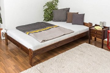 Futonbett / Massivholzbett Kiefer Massivholz Farbe nuss A8, inkl. Lattenrost - Abmessung 140 x 200 cm - 7