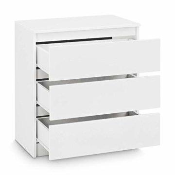Galdem GAKO3WS Kommode mit 3 Schubladen, Holz, weiß, 70 x 77 x 40 cm - 2