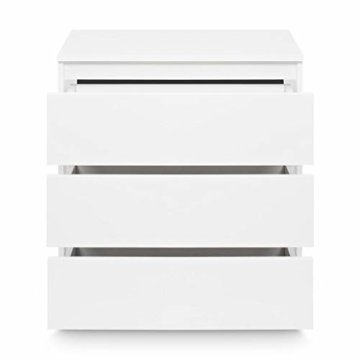 Galdem GAKO3WS Kommode mit 3 Schubladen, Holz, weiß, 70 x 77 x 40 cm - 3