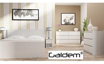 Galdem Kommode mit 6 Schubladen 140cm Sideboard Mehrzweckschrank Anrichte Diele Flur Esszimmer Wohnzimmer Weiß - 5