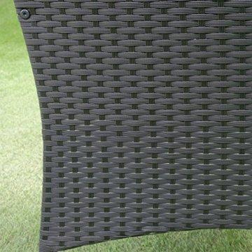 HENGMEI Gartengarnitur Polyrattan Gartenmöbel Set Lounge Sitzgarnitur Gartensofa Rattanmöbel mit 2 Sessel + 1 Bank (Schwarz, Type E mit Weiß Kissen) - 8