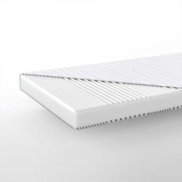 Hilding Sweden Essentials Schaumstoffmatratze in Weiß / Mittelfeste Matratze mit orthopädischem 7-Zonen-Schnitt für alle Schlaftypen (H2-H3) / 200 x 140 x 16 cm - 2