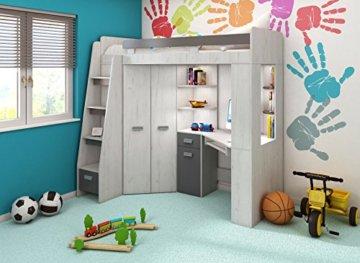 Hochbett Etagenbett Mit Schreibtisch : ᑕ❶ᑐ hochbett etagenbett mit treppe rechts oder links alles in