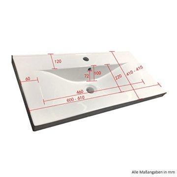 Home Deluxe - Badmöbel-Set - Wangerooge schwarz - XL - inkl. Waschbecken und komplettem Zubehör - Verschiedene Größen - 4