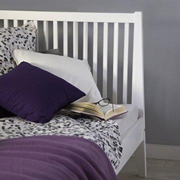 Homestyle4u 1844, Holzbett 140x 200 Weiß, Bett mit Lattenrost, Kiefer Massivholz - 5