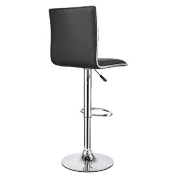 """HOMFA 2 Stk. Barhocker Barstühle """"klassig"""" Design drehbar höhenverstellbar Belastbar bis 160kg schwarz (Set 2) - 3"""