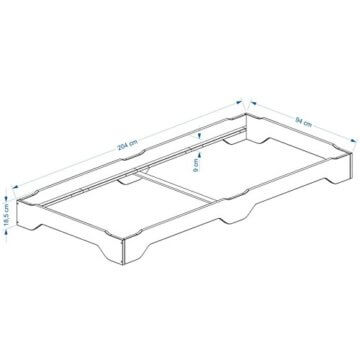 IDIMEX Stapelbetten Set Doppelbett Einzelbett Gästebett Bett RONNY Kiefer massiv weiss lackiert 90 x 200 cm (B x L) - 2