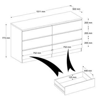 INFINIKIT Haven Kommode mit 6 Schubladen - Weiß - 4