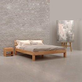 Krok Wood Julia Massivholzbett in Buche 180 x 200 cm FSC 100% Massiv Doppelbett, Natur geölt Buchebett, Billig Holzbett mit Kopfteil, massivholz Bett vom Hersteller  und kostenlose Lieferung - 1