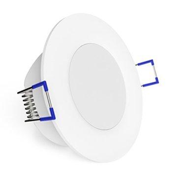linovum® WEEVO IP44 LED Decken Einbauleuchten 10er Set extra flach - Strahler Spot neutralweiß für Bad, Küche, Möbel, Außen - 4