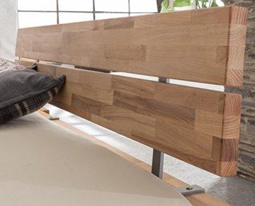 Massivholzbett LUNA Balkenbett in Kernbuche Doppelbett , Größe:160x200 - 3