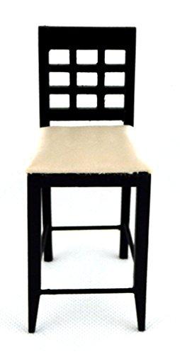 Melody Jane Dolls Houses schwarz Barhocker hoch stuhl-miniatur Küche pub Möbel 1:12 - 2