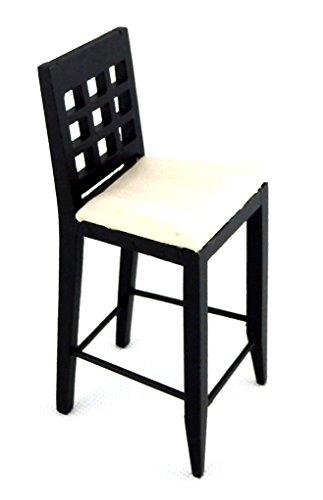 Melody Jane Dolls Houses schwarz Barhocker hoch stuhl-miniatur Küche pub Möbel 1:12 - 3