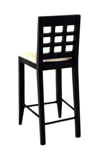 Melody Jane Dolls Houses schwarz Barhocker hoch stuhl-miniatur Küche pub Möbel 1:12 - 4