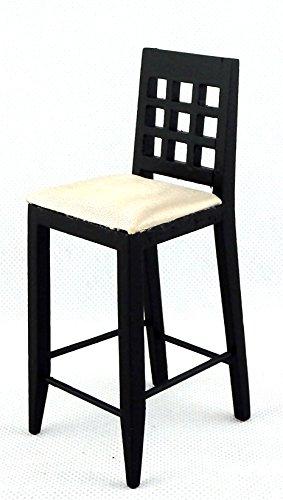 Melody Jane Dolls Houses schwarz Barhocker hoch stuhl-miniatur Küche pub Möbel 1:12 - 1