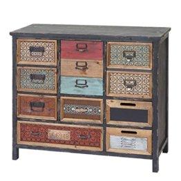 Mendler Apotheker-Schrank HWC-A43, Kommode, Tanne Holz massiv Vintage Shabby-Look 90x84x32cm - 1
