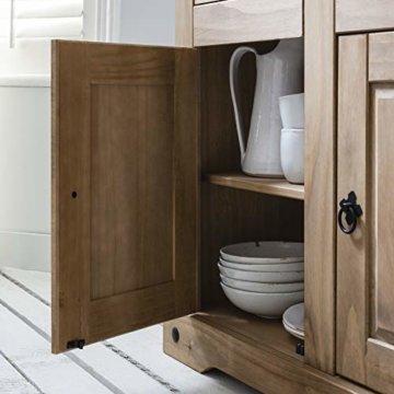 Möbel Anrichte Sideboard Kommode Stil 3 Türen 3 Schubladen gebeizt gewachst - 3