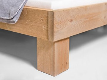 moebel-eins Massivholzbett Pumba Holzbett Einzelbett Singlebett Bett Futonbett Einzelbett, Made in Germany - 3