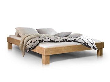 moebel-eins Massivholzbett Pumba Holzbett Einzelbett Singlebett Bett Futonbett Einzelbett, Made in Germany - 1